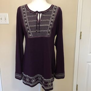 INC Intl Concepts Embellished Tunic, Size XL, NWOT